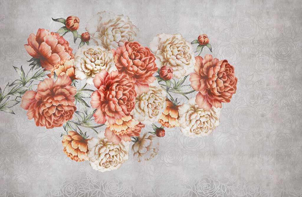 carta parati disegno fiori autunno