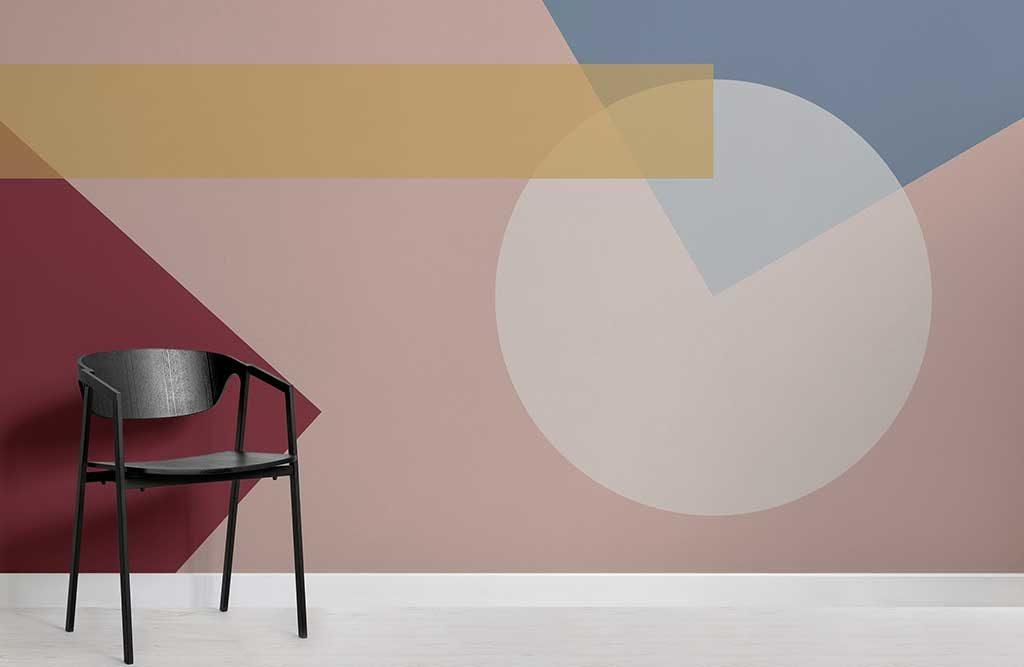 carta parati colore disegni geometrici