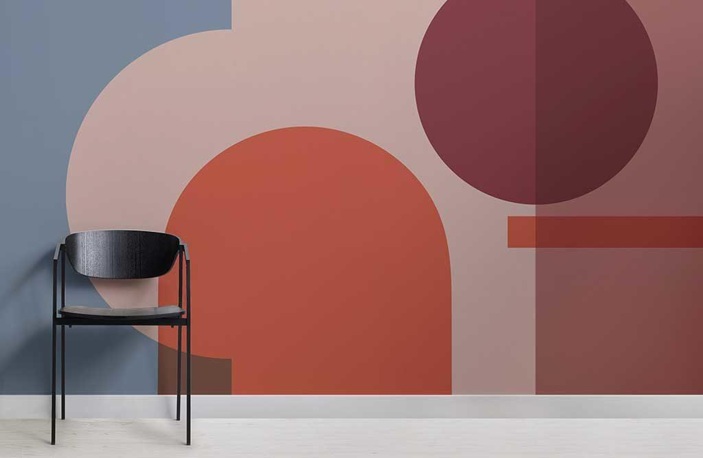 carta parati geometrica colorata