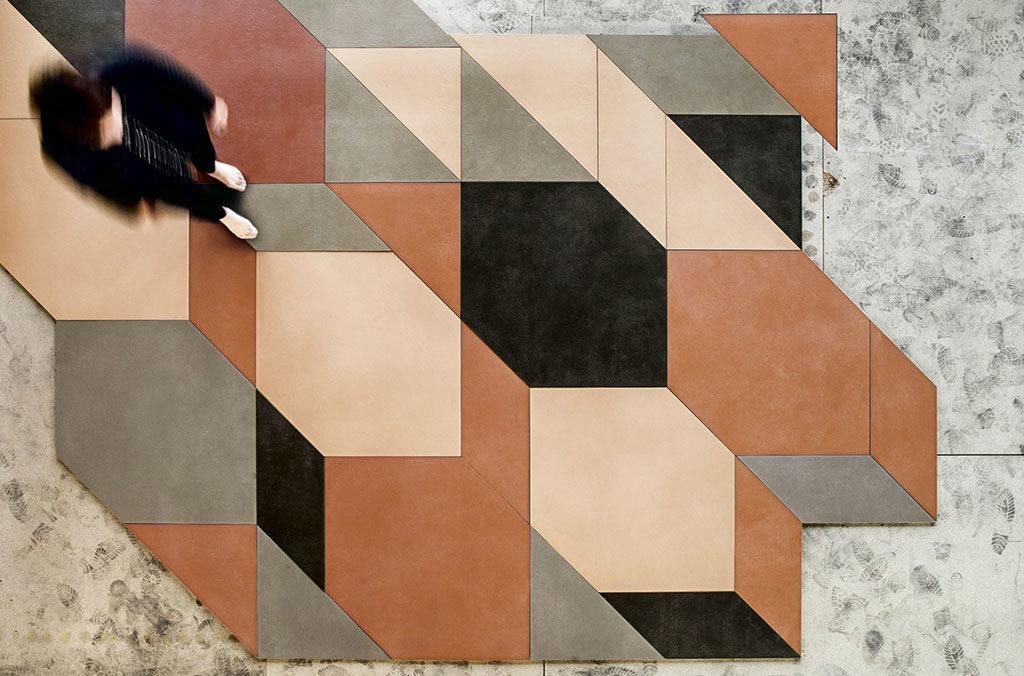 ceramiche composizione terra tridimensionale
