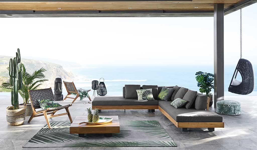 divano esterno grande teak