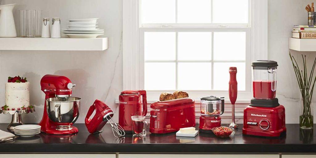 elettrodomestici rossi kitchen aid