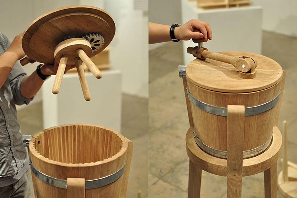 lavatrice manuale legno