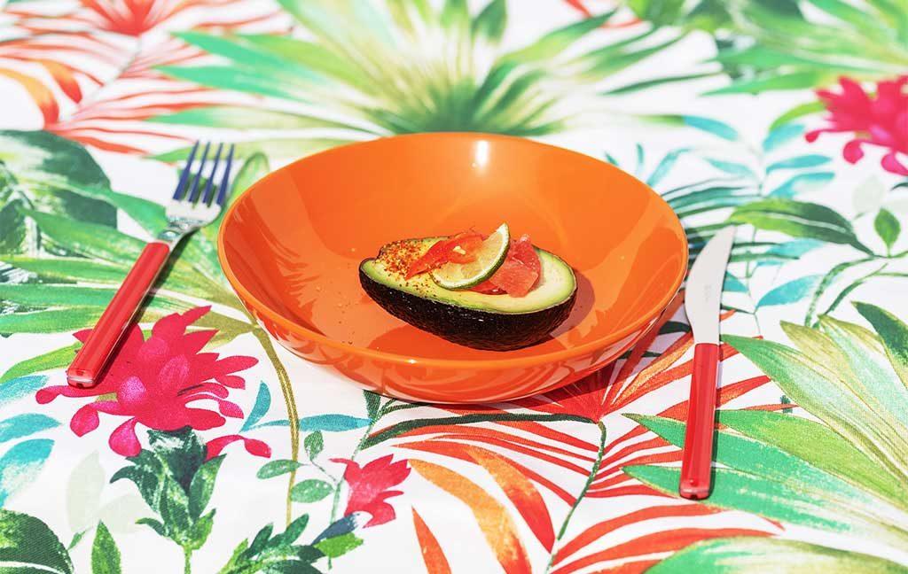 piatto arancione