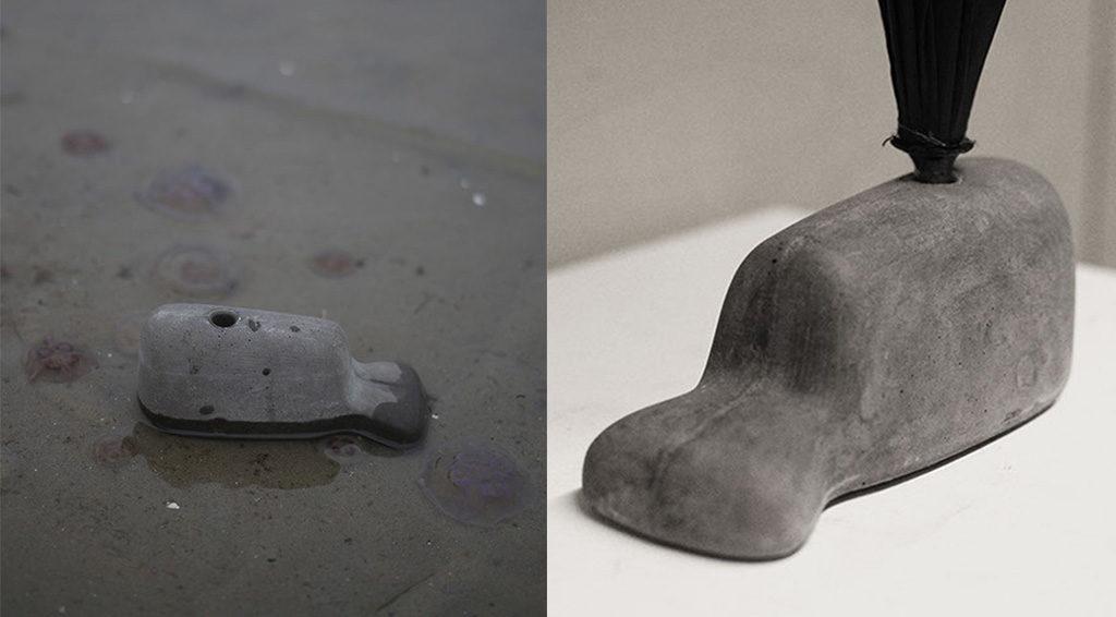 portaombrelli cemento balena