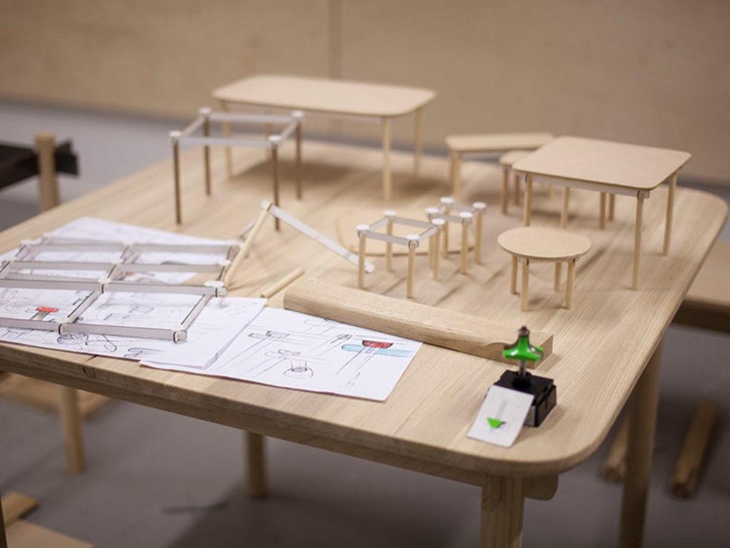 progettazione tavoli legno fasi