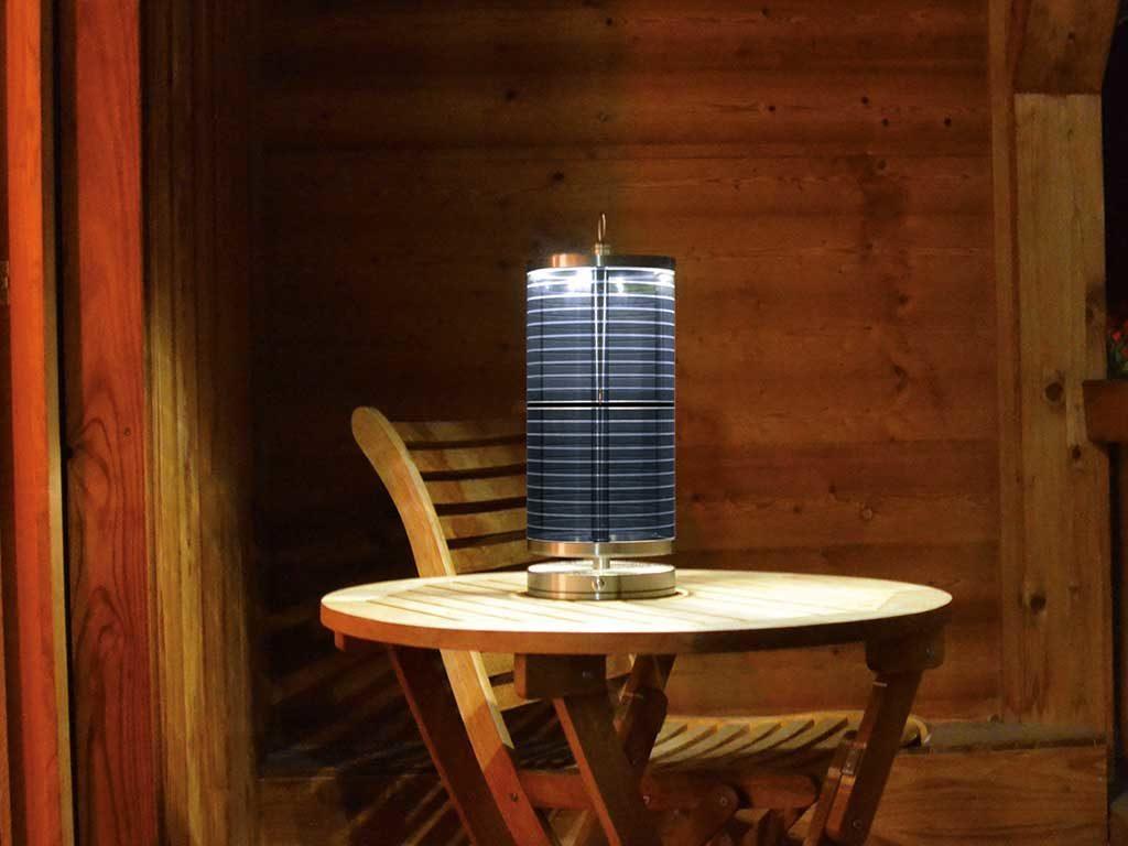 solar light da tavolo ricaricabile