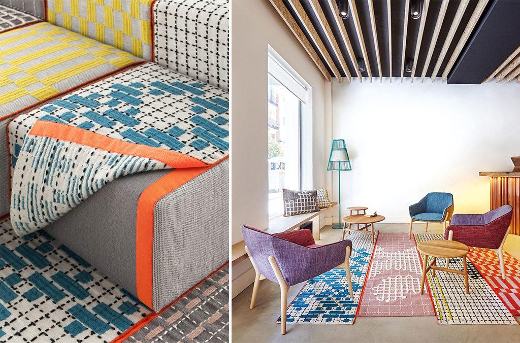 tappeti lana colorati