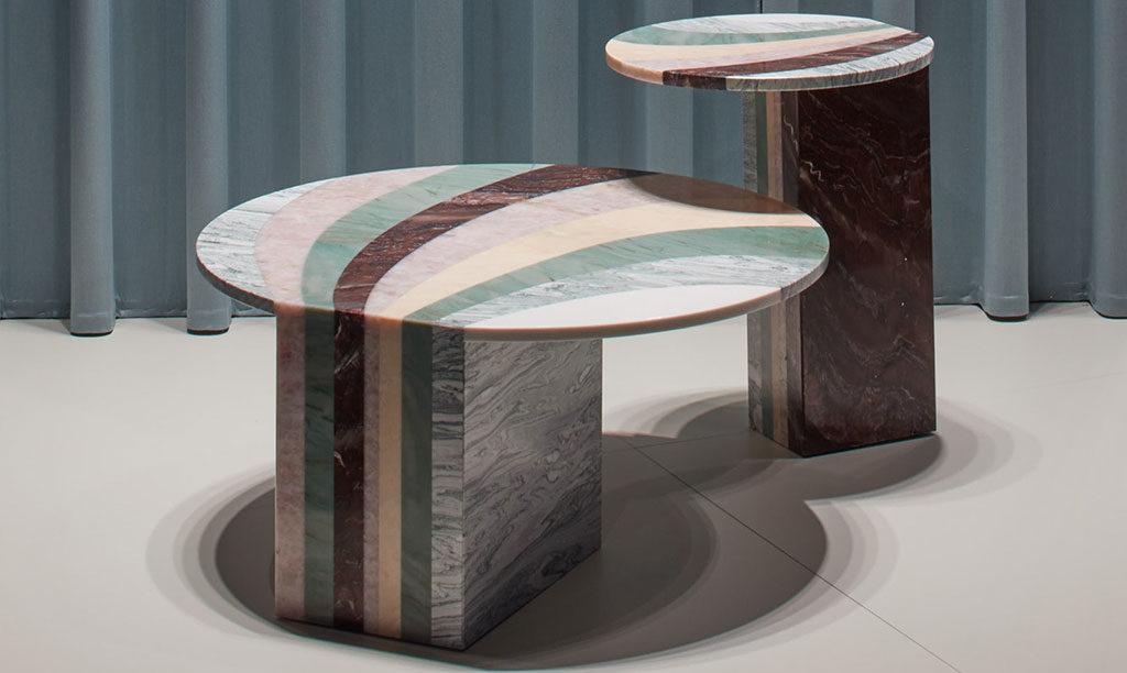 tavolini marmo intarsio