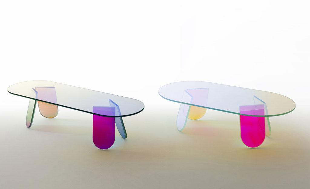 tavolini vetro colorato