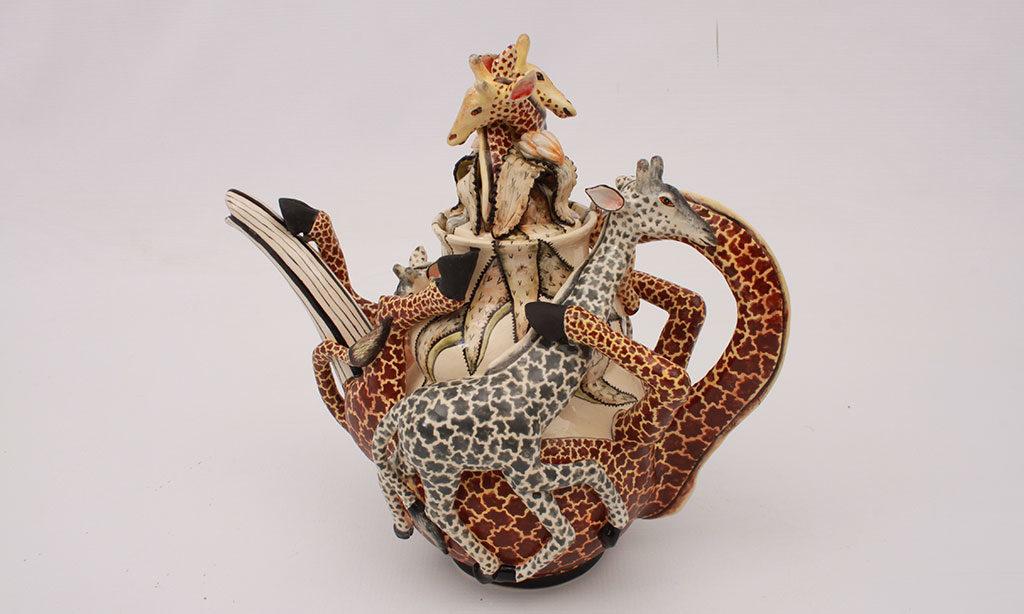teiera giraffe ceramica