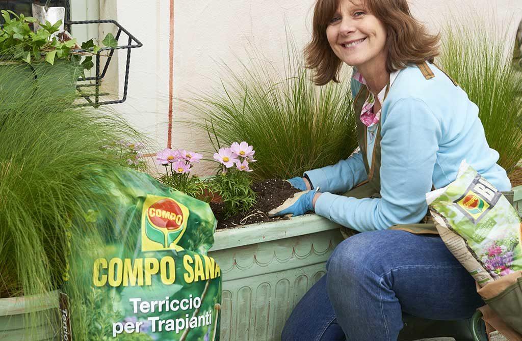 terriccio per trapianti vasi giardino