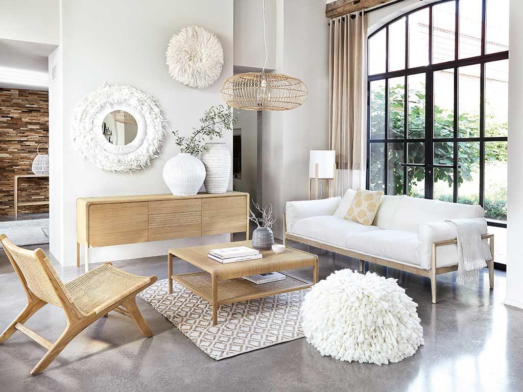 total white e mobili legno nordic