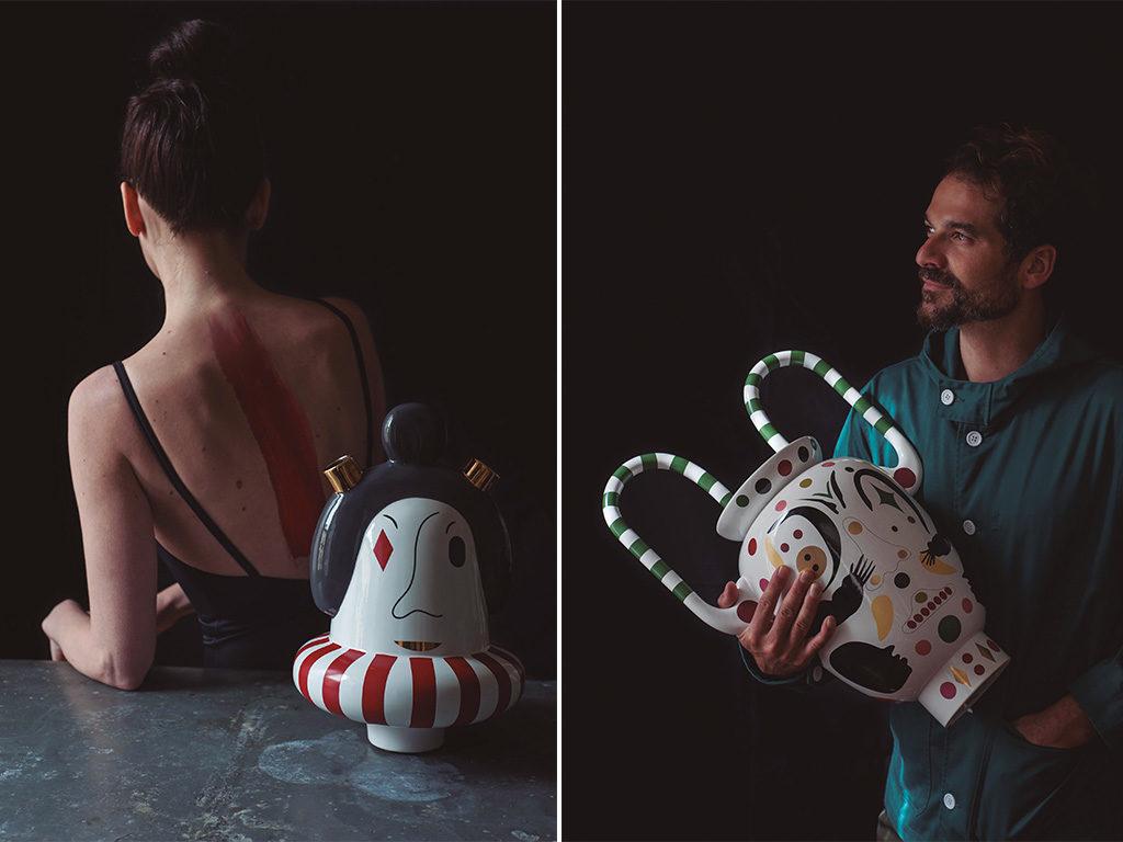 vasi ceramica decorati mano