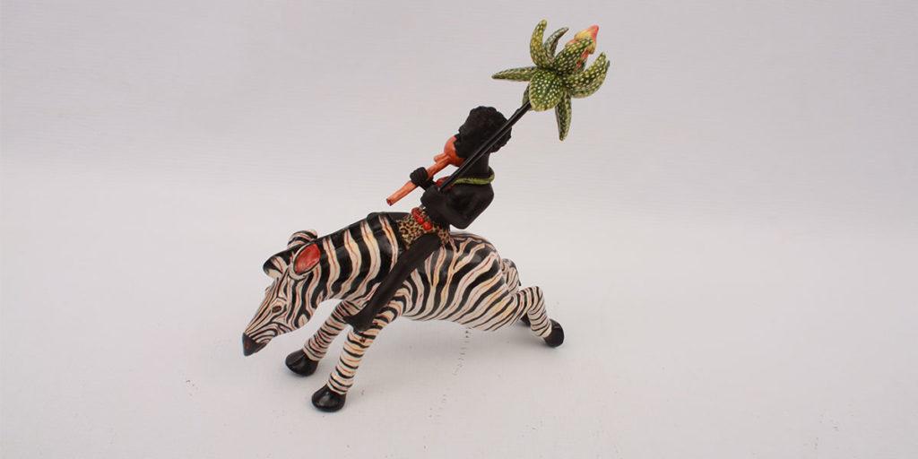 zebra in ceramica