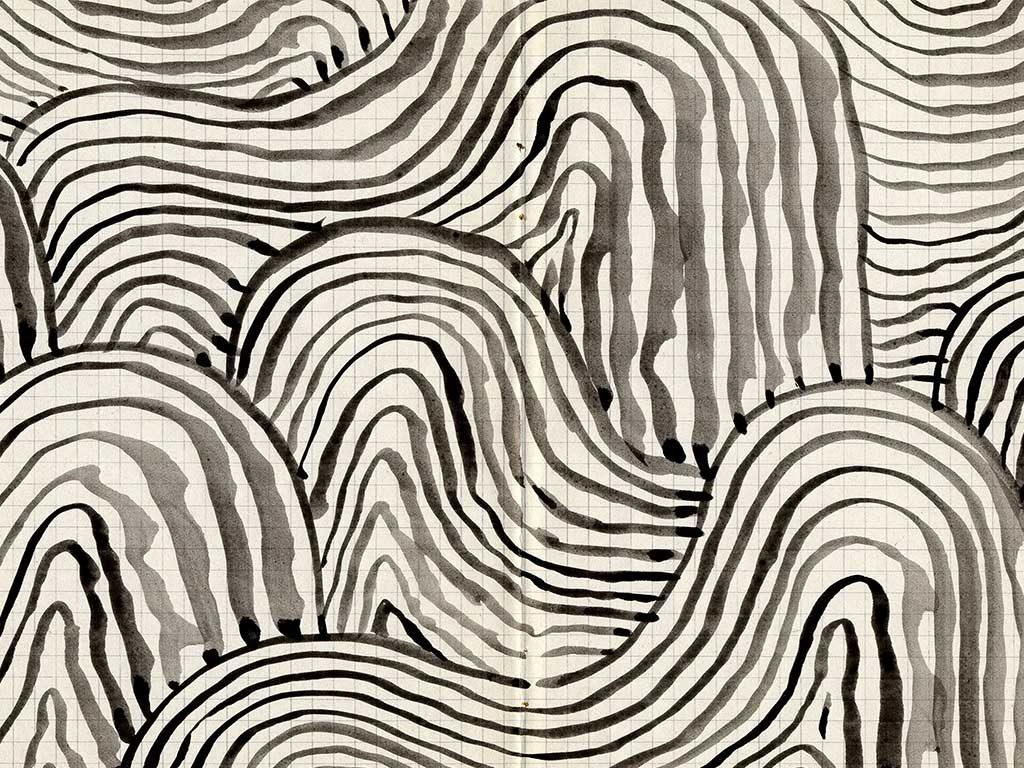 carta parati acquerello fondo quadretti