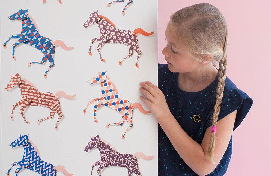 carta parati cavalli disegni bambina