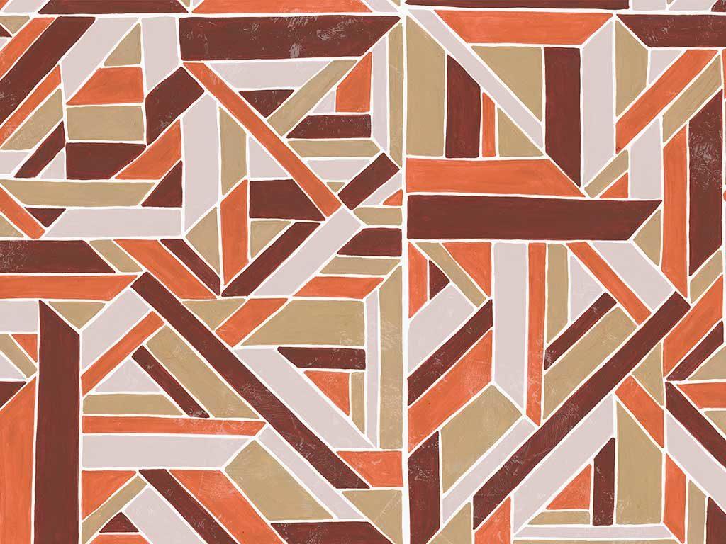carta parati disegno geometrico