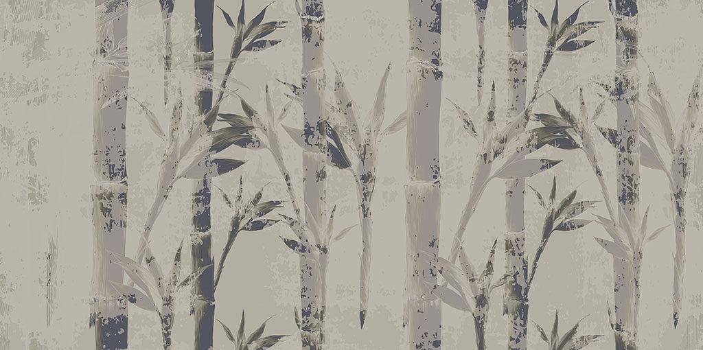 carta parati disegno bambu