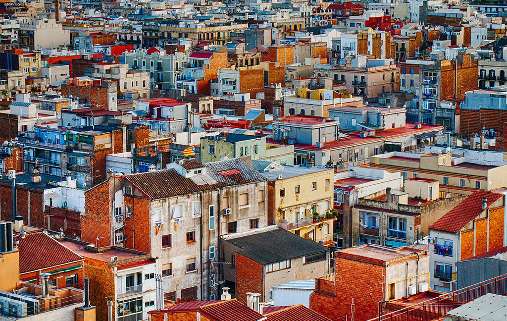 vista case abitazioni citta