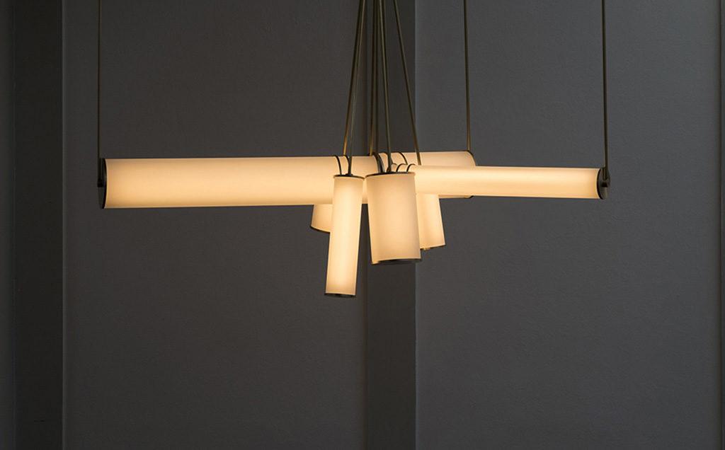 lampade sospensione accese design