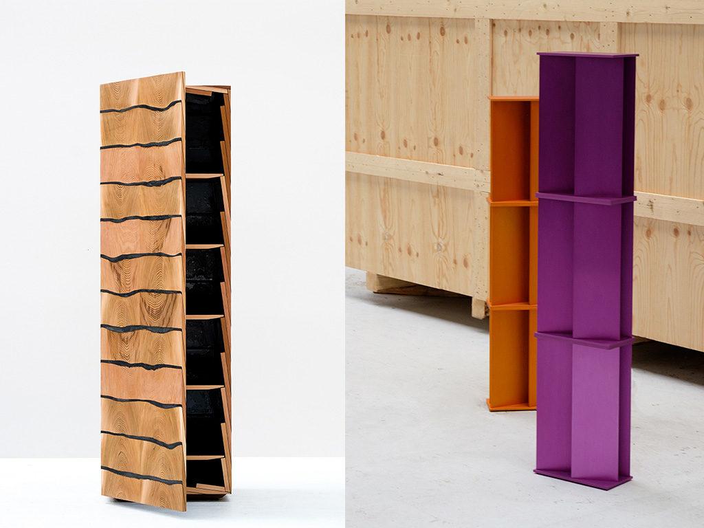 cabinet legno colonna