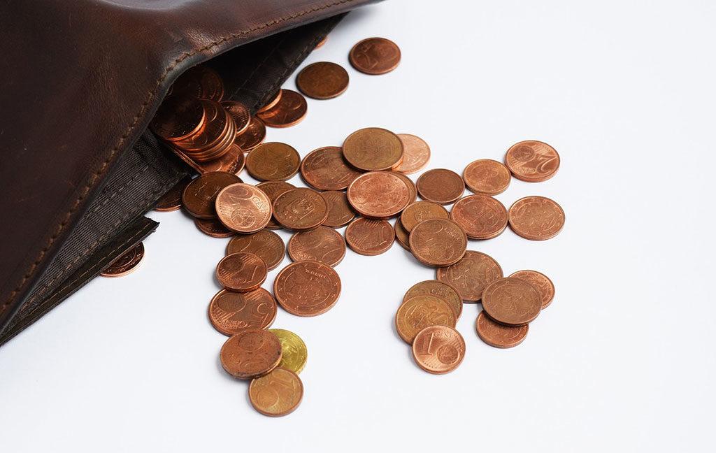 centesimi di euro escono portafogli