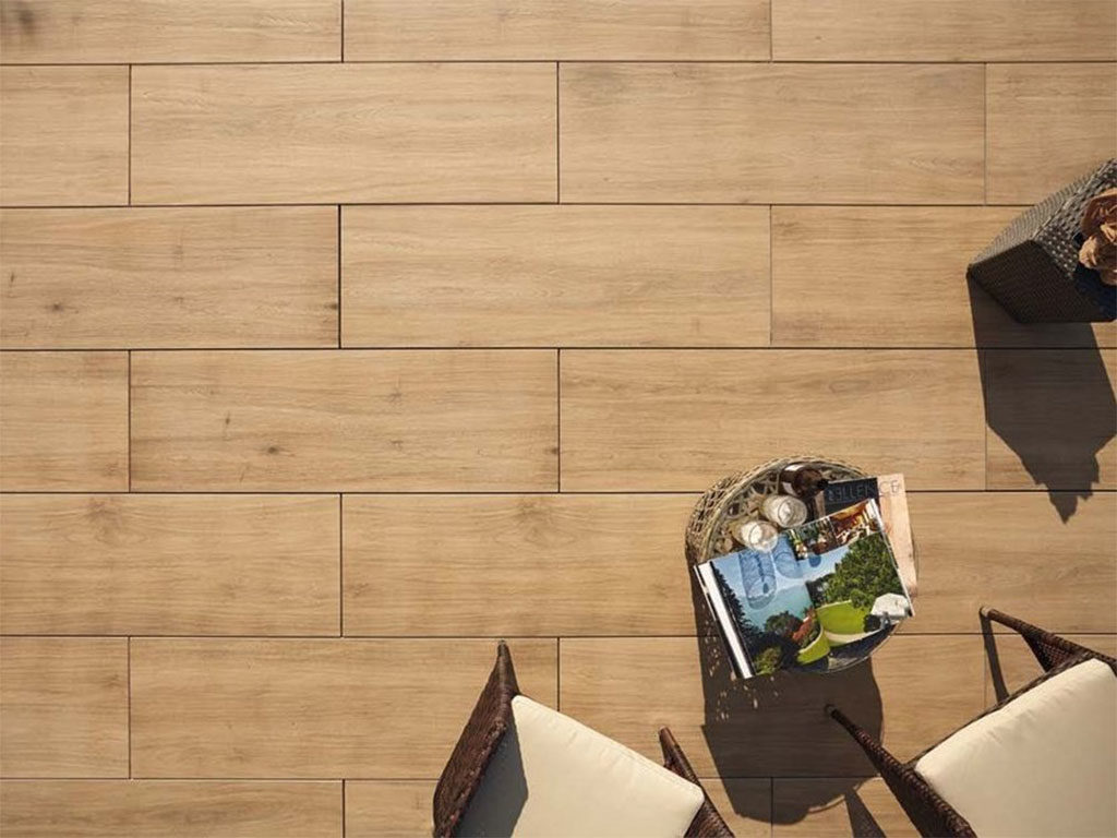 pavimento gres legno listoni