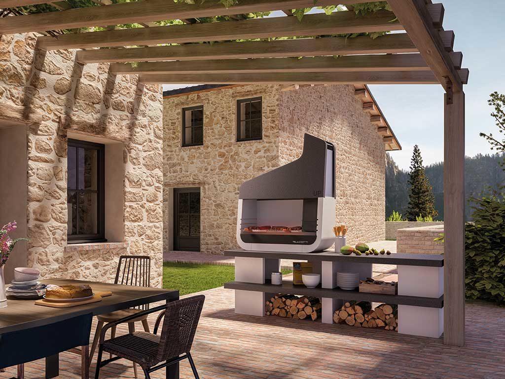 barbecue a legna da esterno