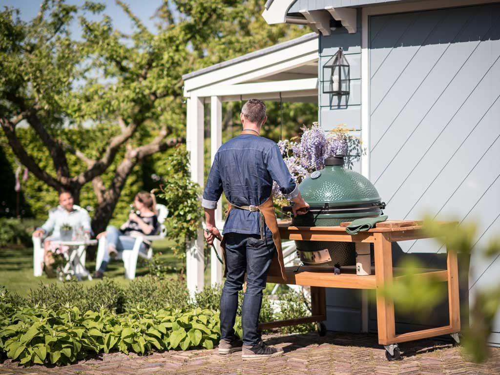 barbecue incorporato tavolo