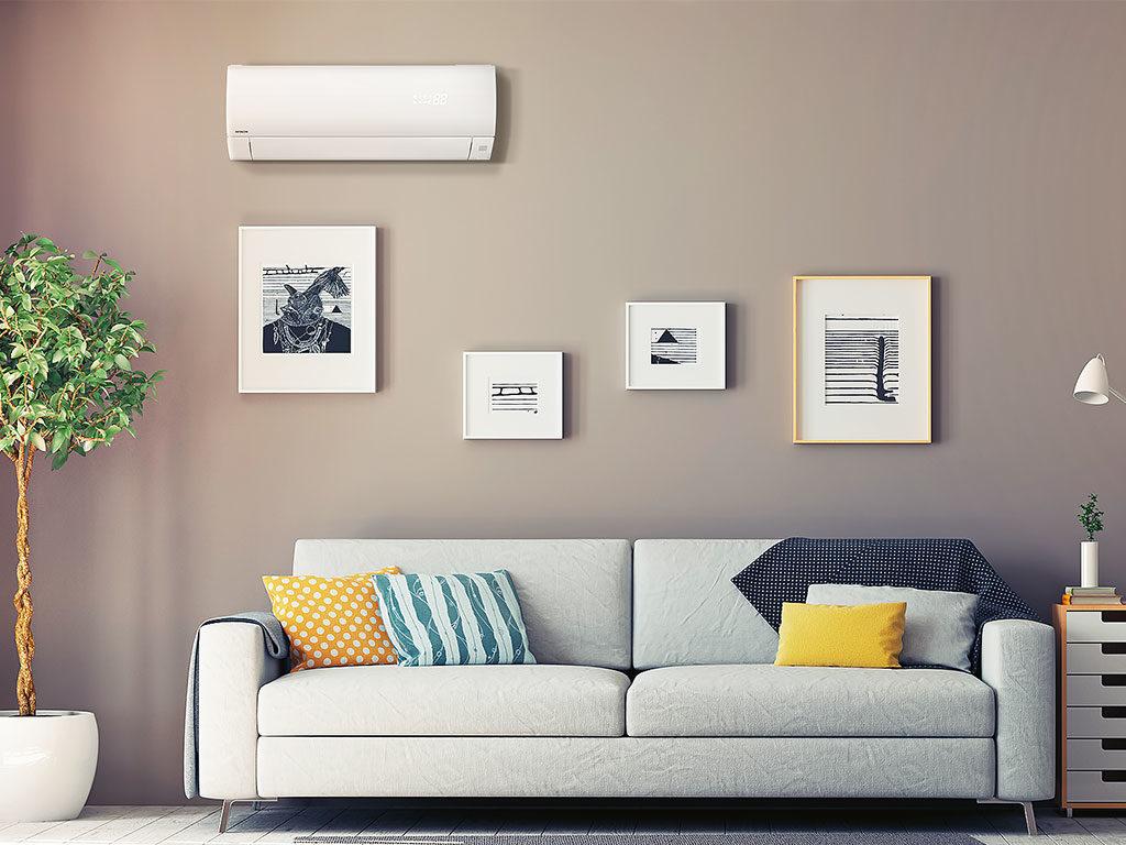 climatizzatore parete bianco