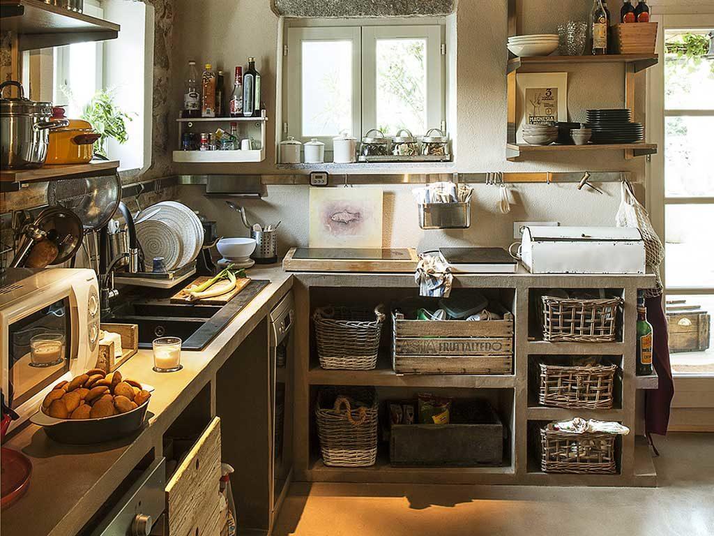 cucina a vista pannelli polistirene estruso