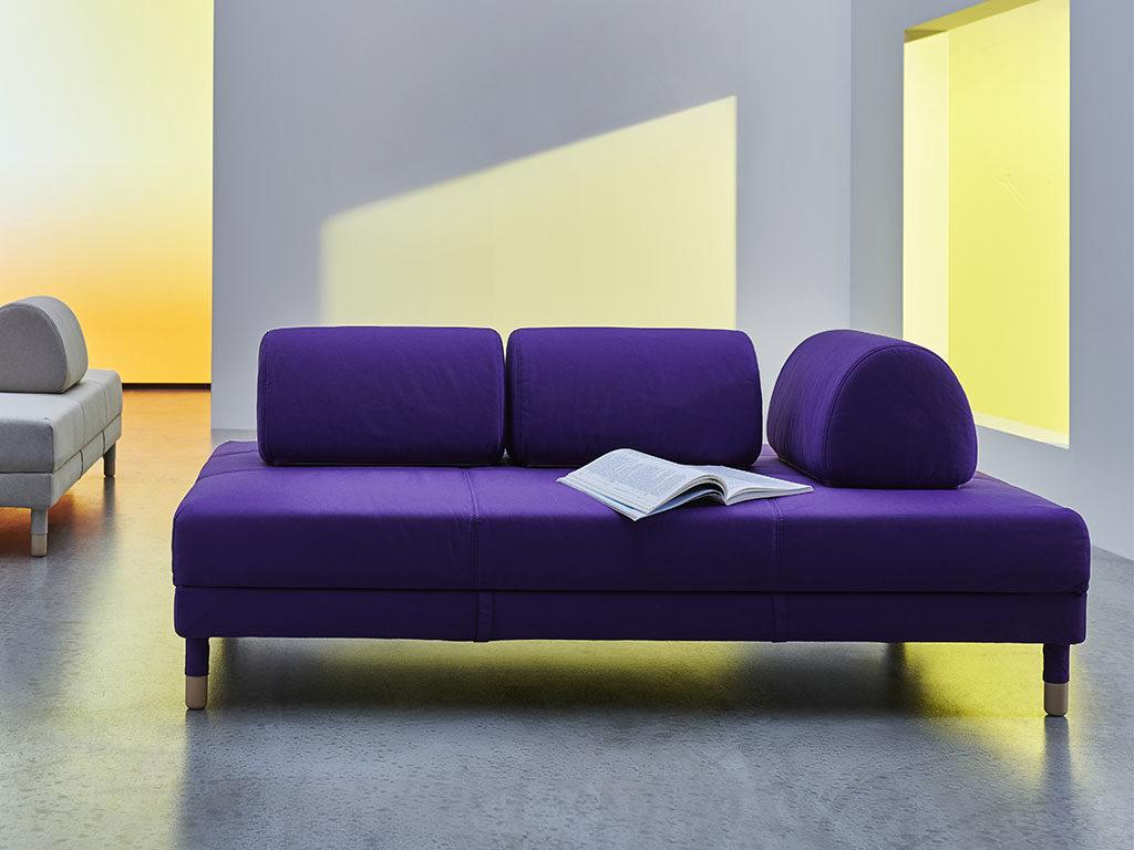 divano letto viola