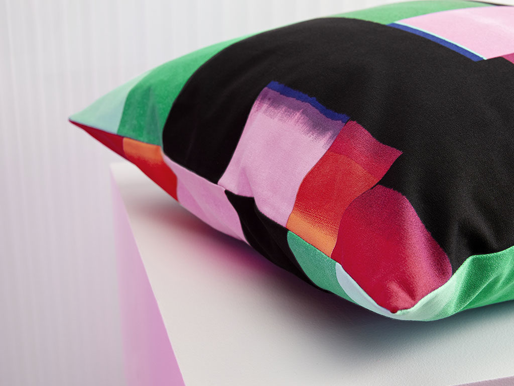 fodera cuscino colorata