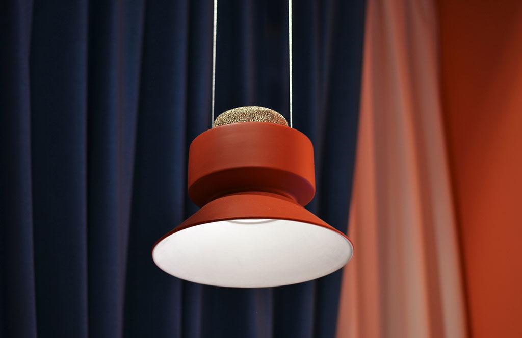 lampada sospensione rossa design