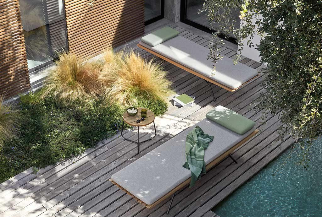 lettino teak giardino