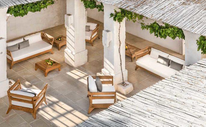 poltrone divani teak esterno