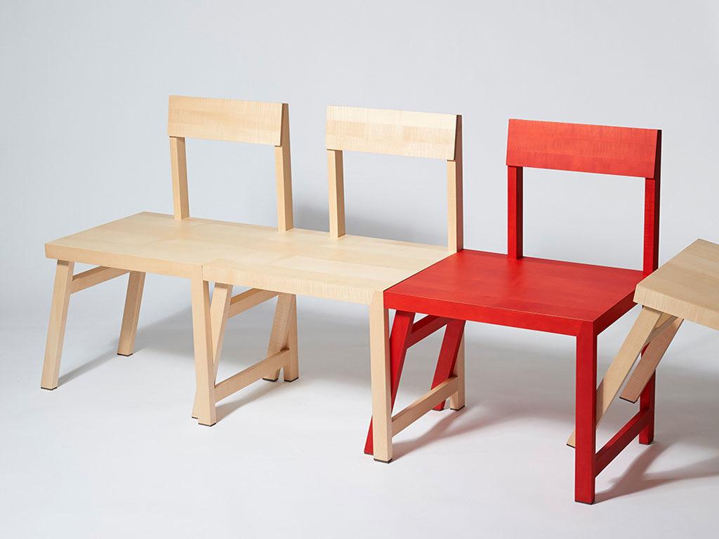 sedia legno incastro panca