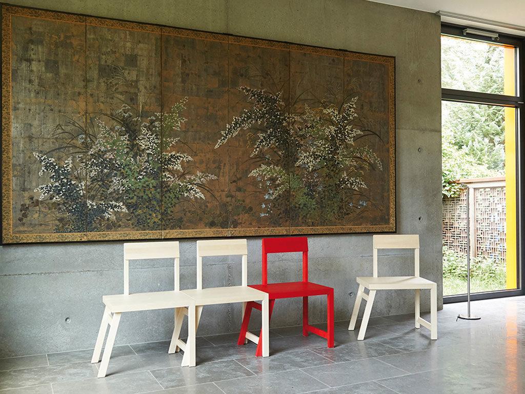 sedia panca legno