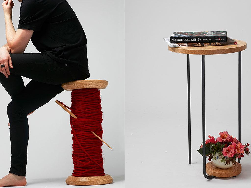 sgabello e tavolino design