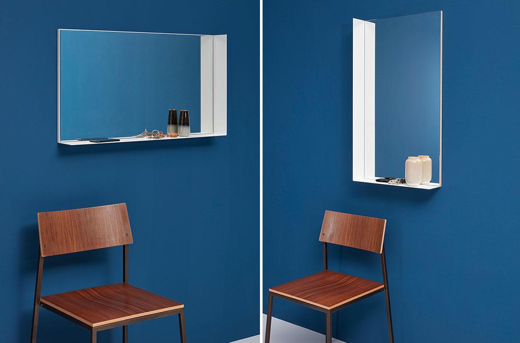 specchio con mensola design