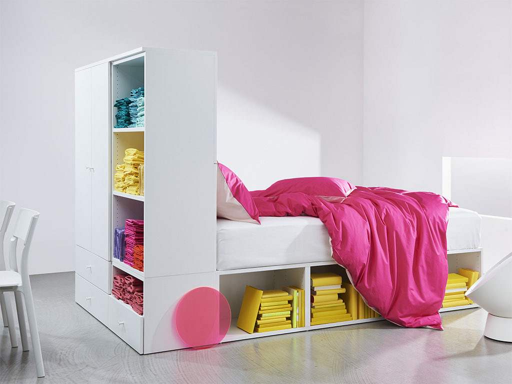 letto struttura con armadio