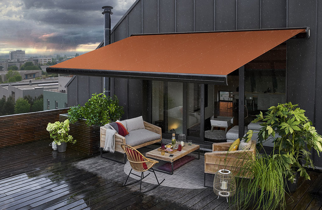 tenda da sole arancione