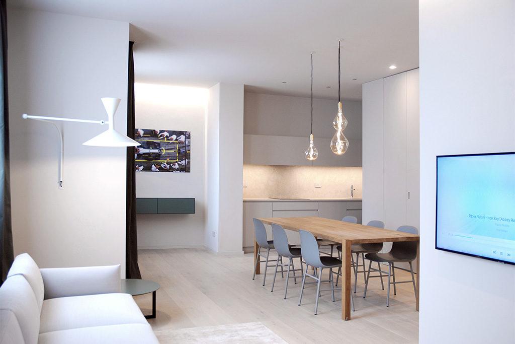 zona living e cucina appartamento