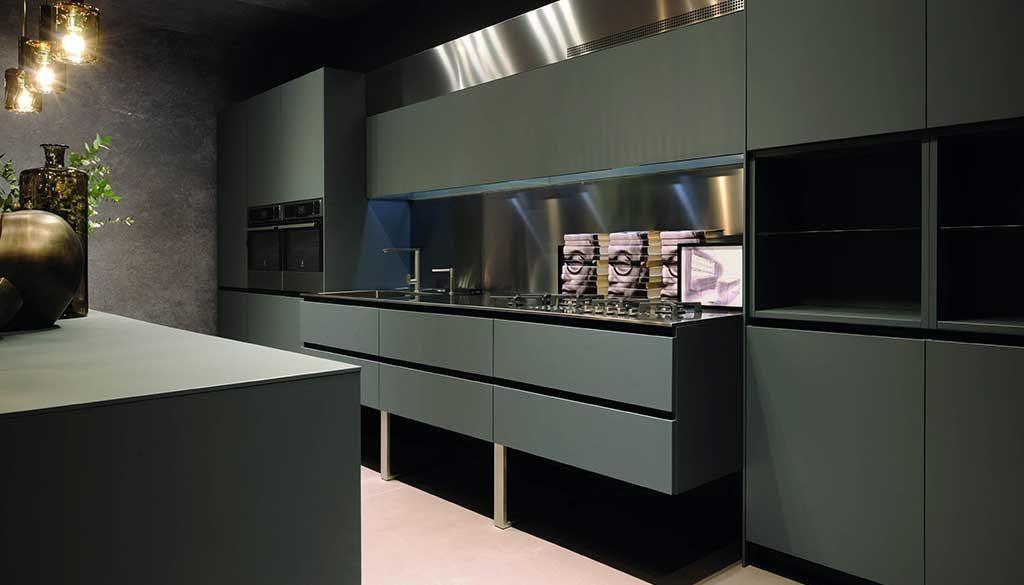 cucina stile contemporaneo verde