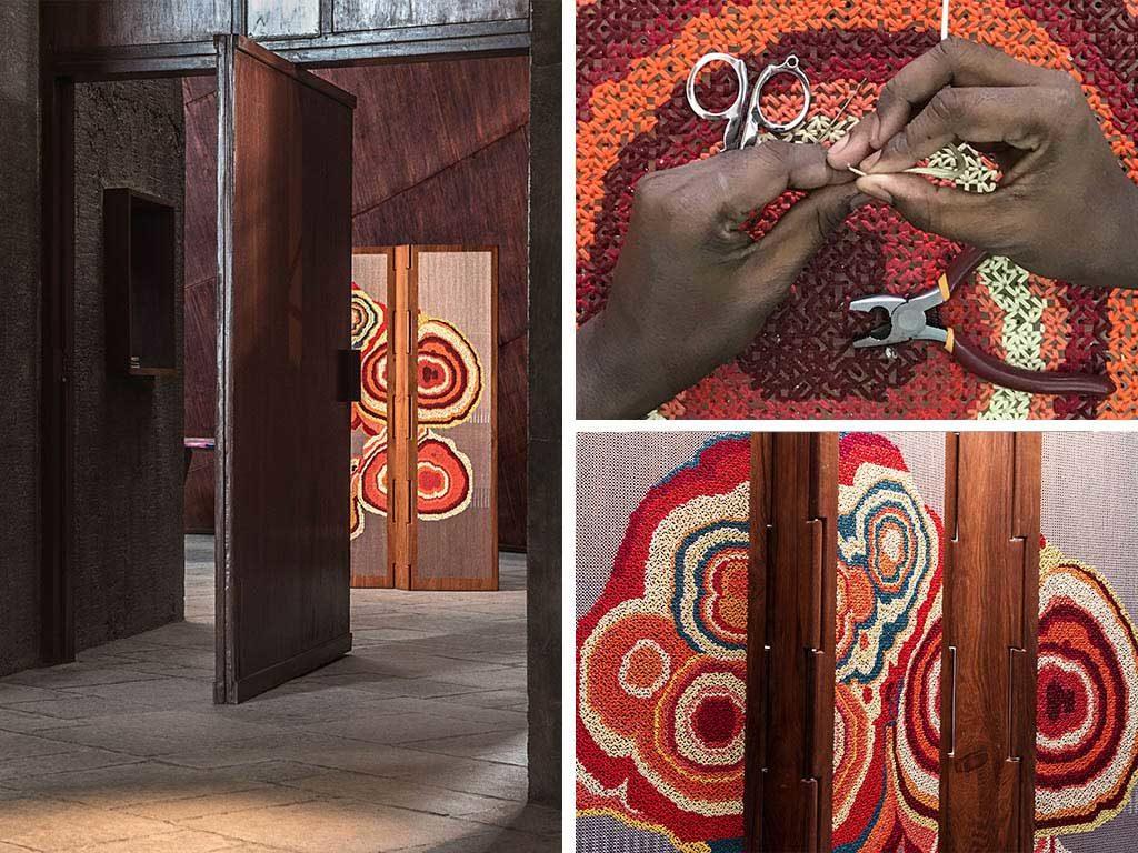 paravento design legno fatto a mano