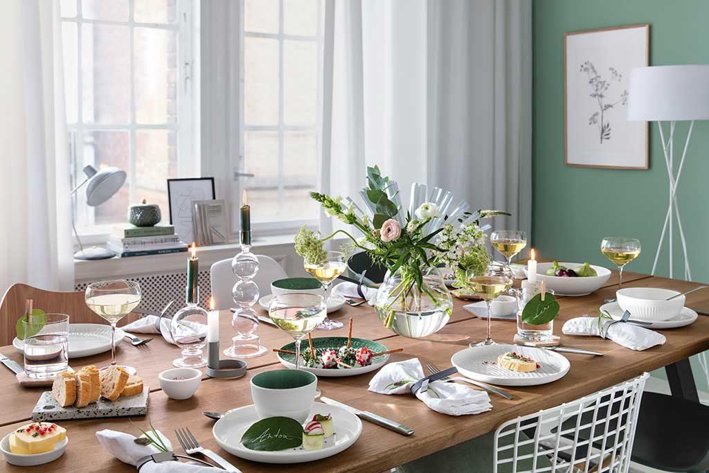 servizio piatti bianco design