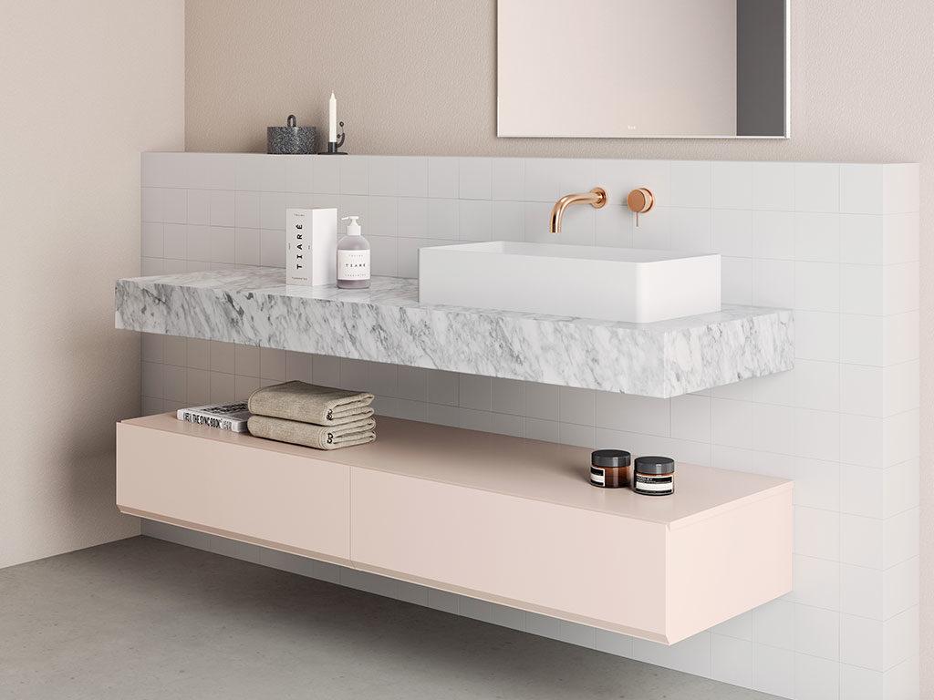 piano lavabo appoggio marmo