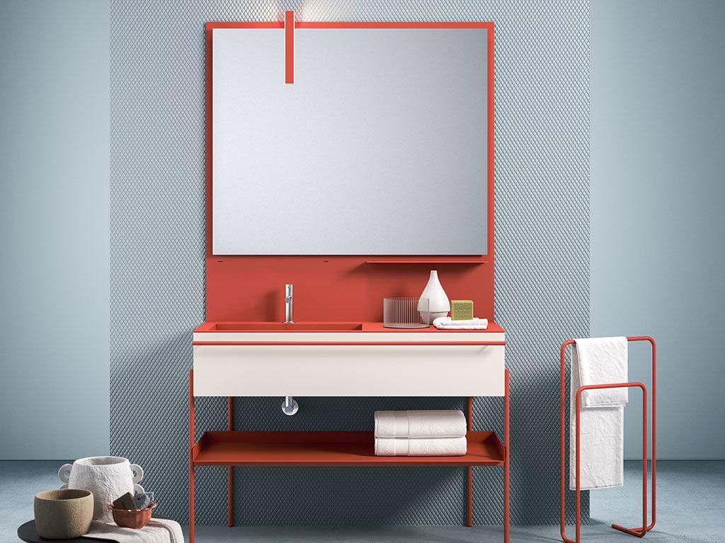 arredo bagno design rosso