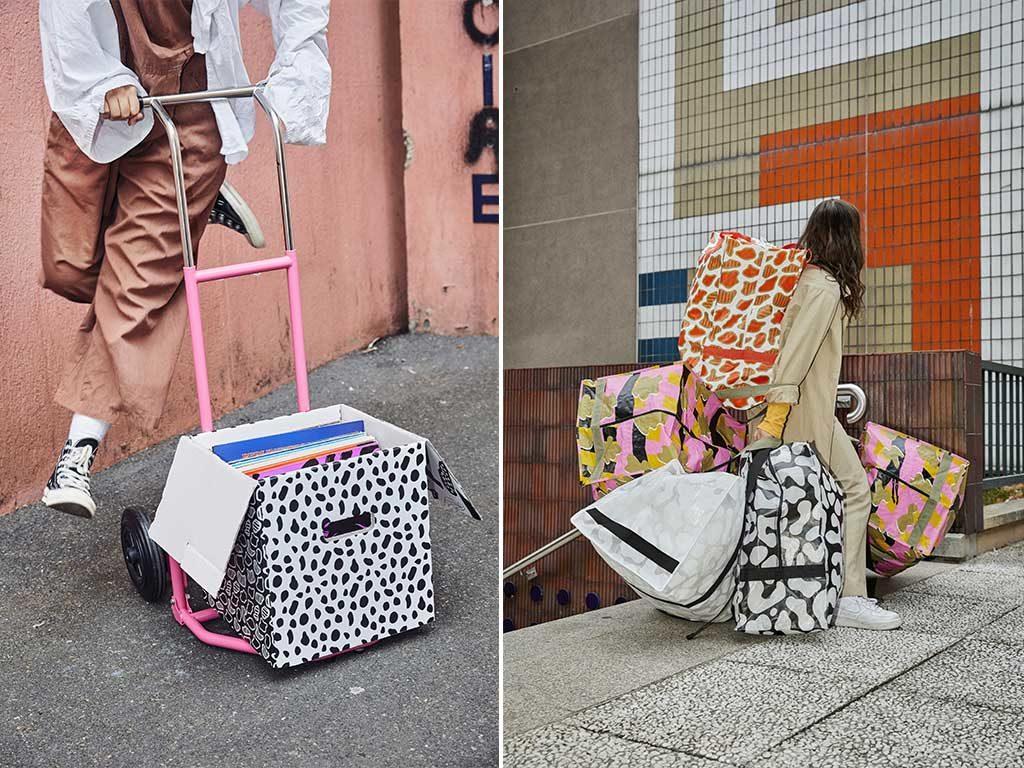 carrello scatolone borse capienti